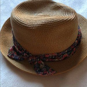Talula Straw Hat with Floral Bow Detail